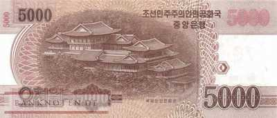 Korea North - 5.000  Won - 70 years... (#CS23_UNC)