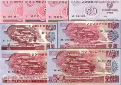 Korea North: 1 Chon - 50 Won (8 banknotes)