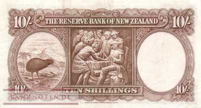 New Zealand - 10  Shillings (#158d_VF)