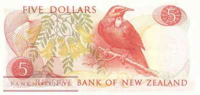 New Zealand - 5  Dollars (#165d_VF)