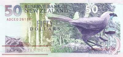 New Zealand - 50  Dollars (#180Aa_UNC)