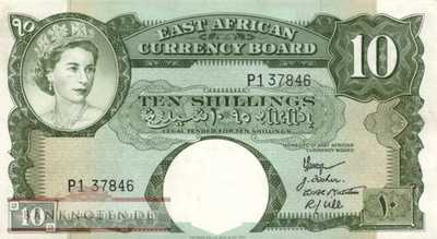 East Africa - 10  Shillings (#038_XF)