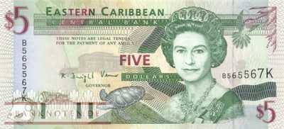 St. Kitts - 5  Dollars (#031k_UNC)