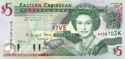 St. Kitts - 5  Dollars (#042k_UNC)