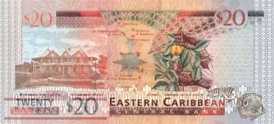 St. Kitts - 20  Dollars (#044k_UNC)