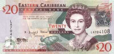 East Caribbean States - 20 Dollars (#049_UNC)