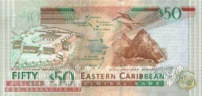Eastern Caribean States - 50  Dollars (#050a_UNC)