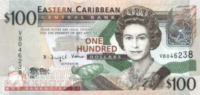 Eastern Caribean States - 100  Dollars (#051a_UNC)
