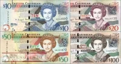 East Caribbean States: 10 - 100 Dollars 2016 (4 banknotes)