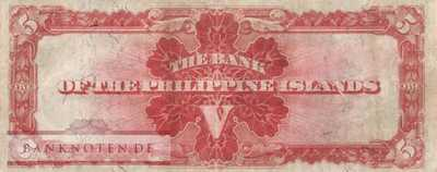 Philippines - 5  Pesos (#007a_VF)