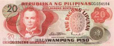 Philippines - 20  Piso (#155a_UNC)