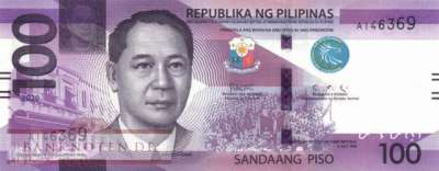 Philippines - 100  Piso (#225a_UNC)