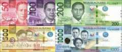 Philippines: 50 - 1.000 Piso (5 banknotes)