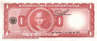 El Salvador - 1  Colon (#115a-72_UNC)