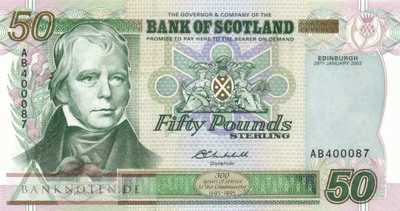Scotland - 50  Pounds (#122c_UNC)