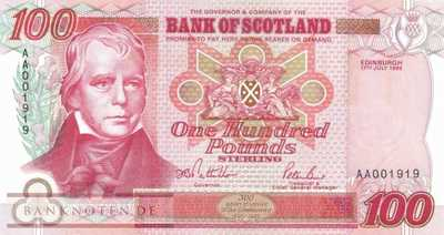 Scotland - 100  Pounds (#123a_UNC)