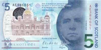 Scotland - 5  Pounds - polymer (#130_UNC)