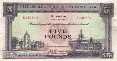 Scotland - 5  Pounds (#192a-52_VF)