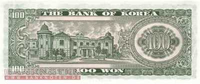 Korea, South - 100  Won (#038_A_UNC)