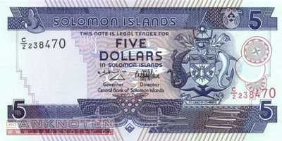 Solomon Islands - 5 Dollars (#019_UNC)