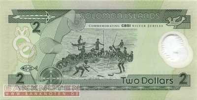 Solomon Islands - 2  Dollars (#023_UNC)
