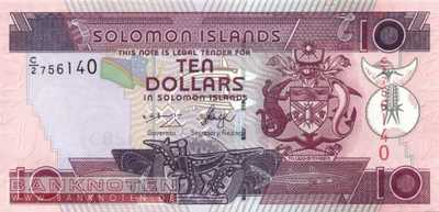 Solomon Islands - 10  Dollars (#027-U8_UNC)