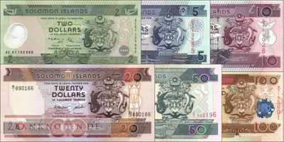 Solomon Islands: 2 - 100 Dollars (6 banknotes)