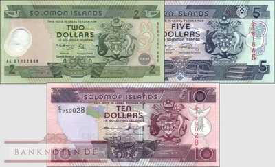 Solomon Islands: 2 - 10 Dollars (3 Banknoten)