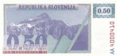 Slovenia - 0,50  Tolar - not issued (#001_A_UNC)