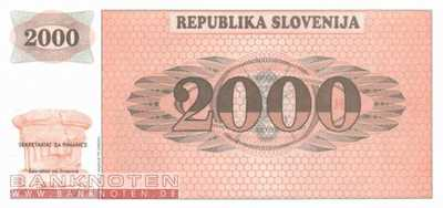 Slovenia - 2.000  Tolarjew - not issued (#009A_UNC)