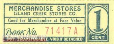 Spitsbergen - Island Creek - 1  Cent - Coupon (#IC01_UNC)