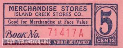 Spitzbergen - Island Creek - 5  Cents - Coupon (#IC02_UNC)
