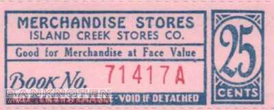 Spitzbergen - Island Creek - 25  Cents - Coupon (#IC04_UNC)