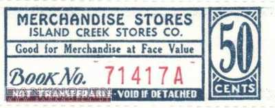 Spitsbergen - Island Creek - 50  Cents - Coupon (#IC05_UNC)
