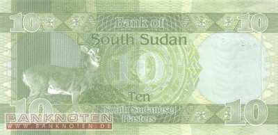 South Sudan - 10  Piasters (#002_UNC)