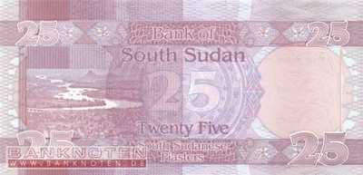 South Sudan - 25  Piasters (#003_UNC)