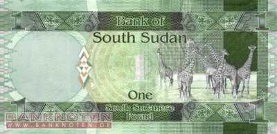 South Sudan - 1  Pound (#005_UNC)