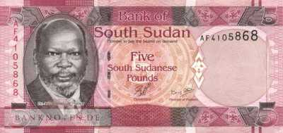 South Sudan - 5  Pounds (#006_UNC)