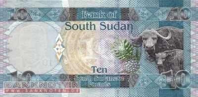 South Sudan - 10  Pounds (#007_UNC)