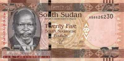 South Sudan - 25  Pounds (#008_UNC)