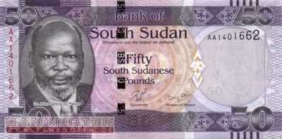 South Sudan - 50  Pounds (#009_UNC)