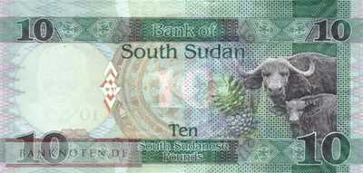 South Sudan - 10  Pounds (#012b_UNC)