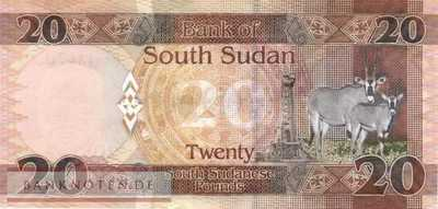South Sudan - 20  Pounds (#013c_UNC)