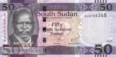 South Sudan - 50  Pounds (#014c_UNC)