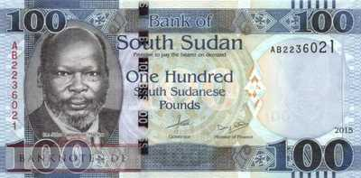 South Sudan - 100  Pounds (#015a_UNC)