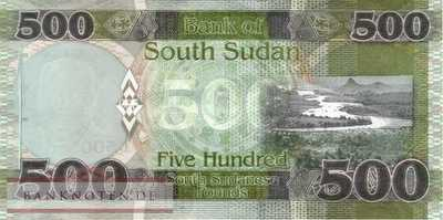 South Sudan - 500  Pounds (#016a_UNC)