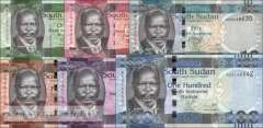 South Sudan: 5 Piaster - 100 Pounds (9 banknotes)