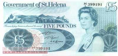 St. Helena - 5  Pounds (#007b_UNC)