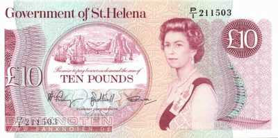 St. Helena - 10  Pounds (#008b_UNC)