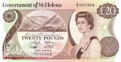St. Helena - 20  Pounds (#010a_UNC)